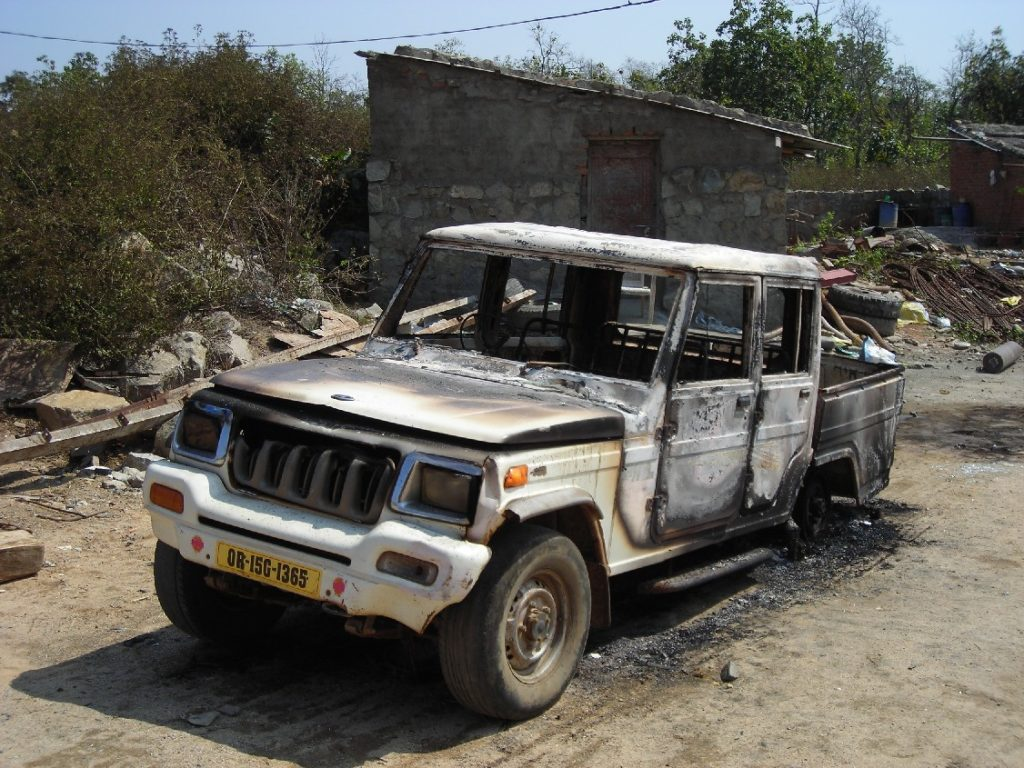 Maoists attack survey officials, burn machines, vehicle