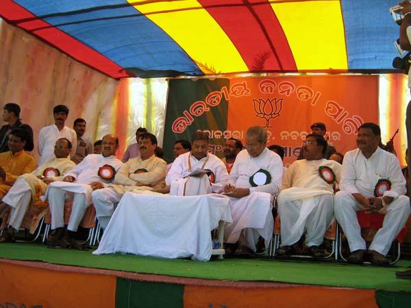 Katiyar addresses public rally at Nabrangpur