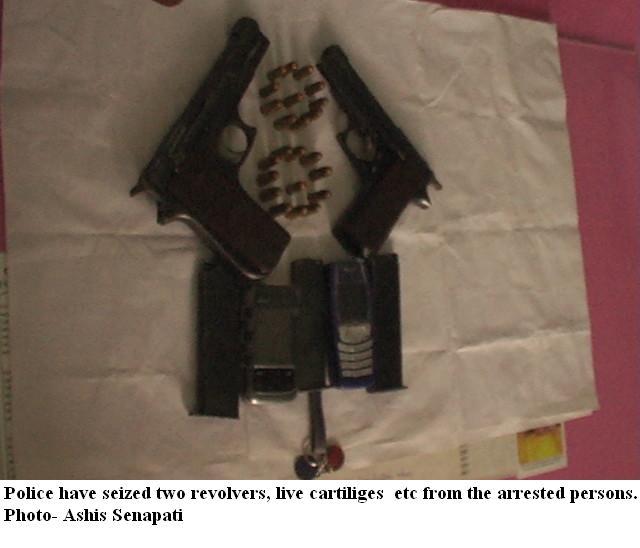 Police arrest gangster's son, seize weapons