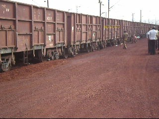 Police seize iron loaded train
